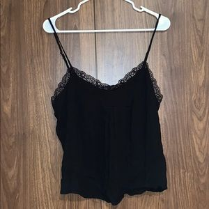Forever 21 Black Eyelash Lace Cami Tank Top NWT